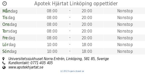 apoteket hjärtat linköping tanneforsgatan