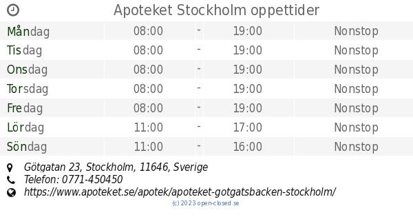 apotek götgatan stockholm