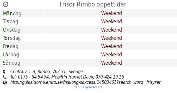 frisör rimbo drop in