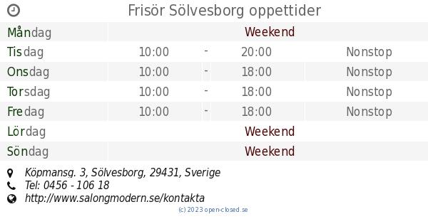 frisör sölvesborg drop in