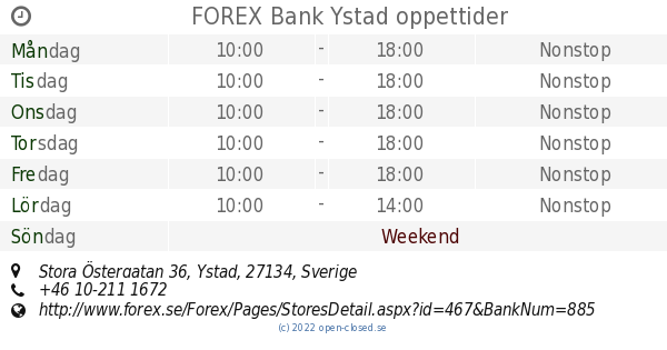 Forex bank ystad